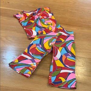 COPPER KEY ~🌈 Color Mosaic Set T-shirt Pants 2T
